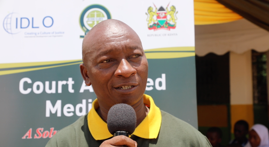"""Mr. Philip Nzenge, Coordinator at the Department of Children's Service in Mombasa, told the audience: """"We thank IDLO, the Judiciary and all other stakeholders. It is a great opportunity for the children of this county because many of the cases we handle in the Department of Children Services, they do not origin from the child. We also have children who are being rehabilitated. We need also to mediate on their behalf."""""""