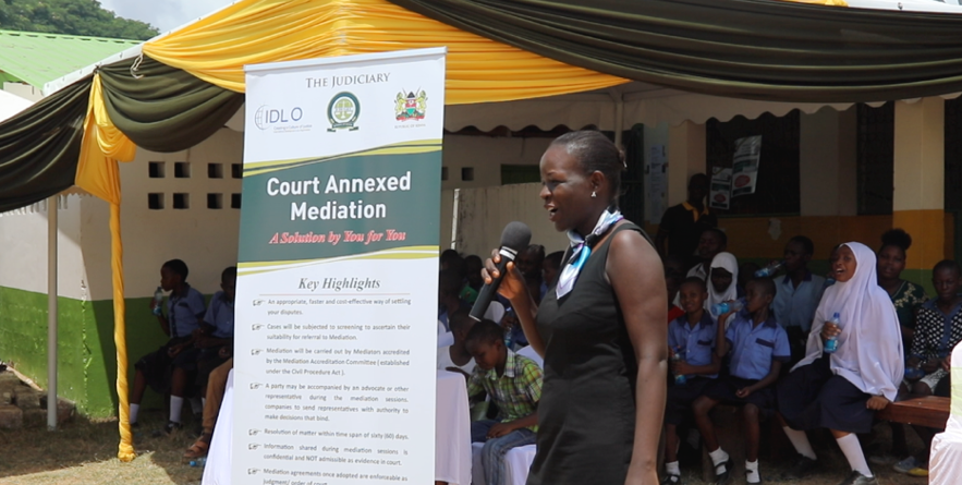 """""""Mediation is a good thing in the Children's Court"""", Ms. Sarah Ater, Court Annexed Mediator in Mombasa, said. """"It serves to ensure that we parents share and honor our responsibilities and reminds us that in spite of our differences we must continue to think about our children and the children's best interests."""""""